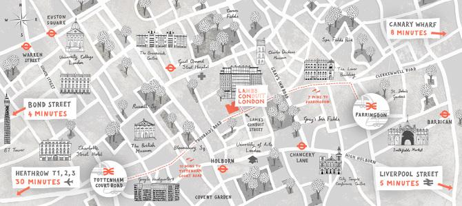 lambs conduit street map james grover freelance illustrator toronto ca